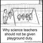 science teacher swing set