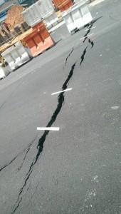 taped sidewalk