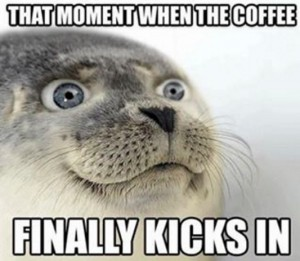coffee kicks in