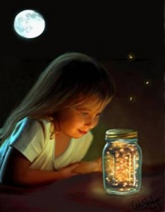 kid & fireflies